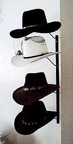 Tier Western Cowboy Hat Rack Black Powder Coat New