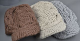Trendy Womens Winter Knit Beanie Hat LONG BEANIE CAP 4 COLORS, FRFEE