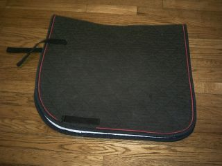 HIGH POINT custom color DRESSAGE SADDLE PAD black with red piping
