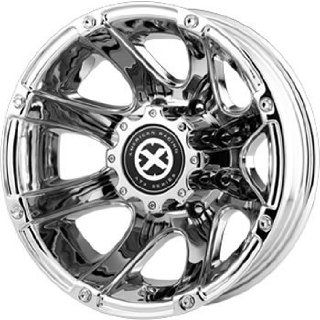 American Racing ATX Ledge 17x6 Chrome Wheel / Rim 8x210 with a  134mm