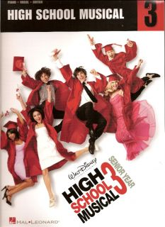 High School Musical 3 Movie Song Lyrics Sheet Music PVG