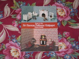 VTG Art Nouveau Doll House Miniature Wallpaper Book~Muncie Hendler