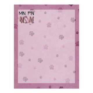 Min Pin MOM Personalized Letterhead