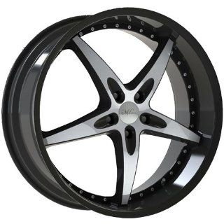 Milanni ZS 1 20 Black Wheel / Rim 5x115 with a 15mm Offset and a 74.1