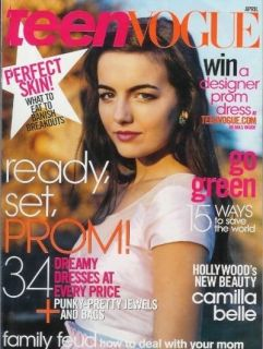 CAMILLA BELLE, JOSH PECK, AMBER HEARD! Teen Vogue   April 2008