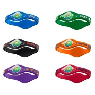 New NBA Basketball Wristband Power Balance Rubber Bracelet Hand