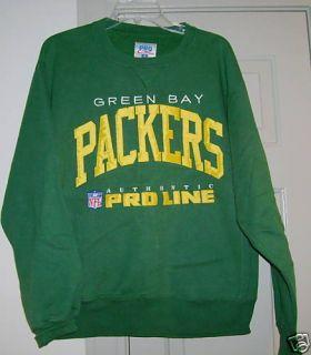 Green Bay Packers Green Sweatshirt Sz Adult Medium