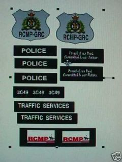 RCMP Retro Police Car Decals 1 24 Custom