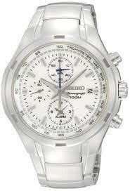 seiko mens white dial watch snae39p1 nwt