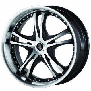 Von Max VM1 18x7.5 Machined Black Wheel / Rim 4x100 & 4x4.5 with a