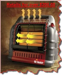 Propane Portable Garage RV Air Blowing Fan Forced Box Heater