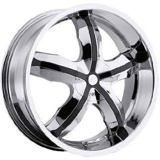 Platinum Widow 20x8 Chrome Wheel / Rim 5x110 & 5x115 with a 42mm