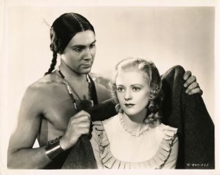 1936 LAST OF THE MOHICANS HEATHER ANGEL & PHILLIP REED LOVE SCENE