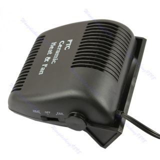 12V Car Vehicle Ceramic Heater Heating Cooling Fan Defroster Demister