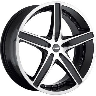 MKW M107 18 Black Wheel / Rim 5x110 & 5x115 with a 40mm Offset and a