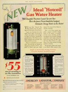 American Radiator Co Gas Water Heater Hotcoil Heating Home Improvement