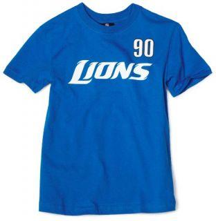 Lions Ndamukong Suh 8 20 Name & Number Tee Shirt Boys Clothing