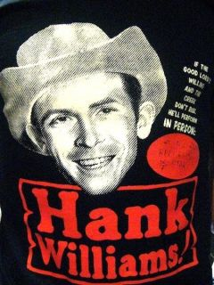 Hank Williams T Shirt Country Hillbilly Rockabilly CD