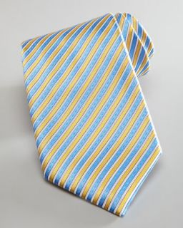 Stefano Ricci Striped Silk Tie, Yellow/Blue   Neiman Marcus