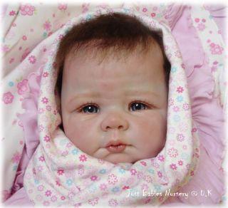 New Reborn Soft Hanna Doll Kit by Elly Knoops 3 4 Limbs