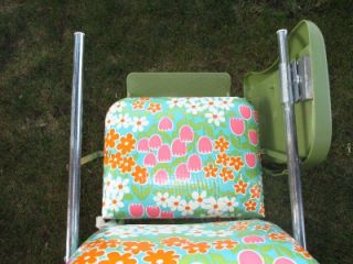 Vintage 1960s Thayer Flower Power Baby Fold Up High Chair