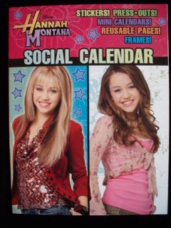 Hannah Montana Social Calendar Book Stickers Party Fun