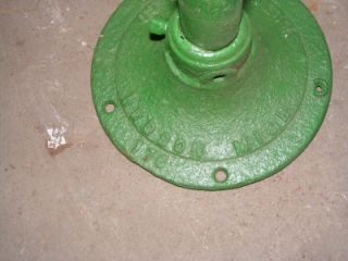 Antique Green Cast Iron Hand Water Pump Hazen Hudson Michigan
