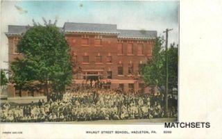 Hazleton PA Walnut Street School Penny Arcade Postcard