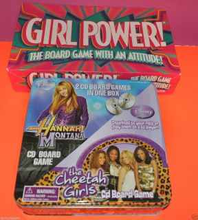 Lot 2 Games Disney Hannah Montana Cheetah Girls CD Board Game GIRL