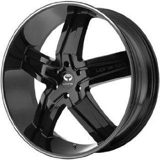 Lorenzo WL030 22x9 Black Wheel / Rim 5x4.5 with a 38mm Offset and a 72