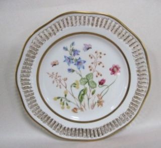 Royal Hanover Reticulated Floral Plate Made in Bavaria Germany