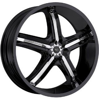 Milanni Bel Air 5 18 Black Wheel / Rim 5x115 with a 18mm Offset and a