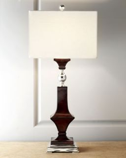 H6KX9 John Richard Collection Espresso Leather Table Lamp