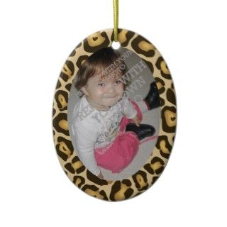 Adorn your Christmas tree with this customizable leopard animal print