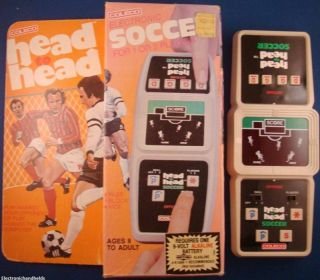Coleco Head to Head Soccer Electronic Handheld Game ★