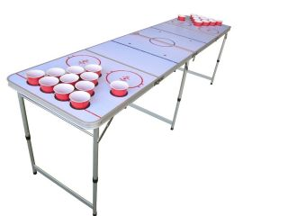 Hockey Beer Pong Table Beirut with Pre Drilled Cup Holes