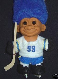 Hockey Russ Troll Doll New 5 Player Wayne Gretzky 99