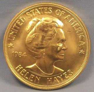 AUTHENTIC 1984 HELEN HAYES ONE OUNCE GOLD COMMEMORATIVE SERIES