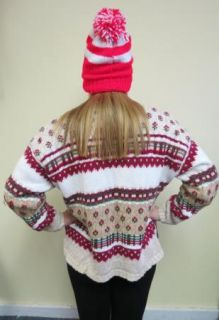Festive Frock Hodge Podge Ugly Christmas Sweater Womens Cardigan Tacky