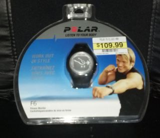 Polar Fitness Heart Rate Monitor Watch Stopwatch Calories Alarm Zone