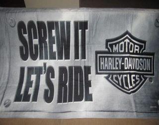 New Screw It Lets Ride Harley Davidson Motorcycle Bath Beach Gift