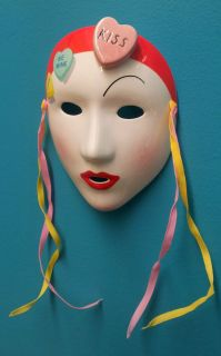 MASK Candy Hearts Kiss Vandor Pelzman 1985 4 5 Ceramic Valentines Day