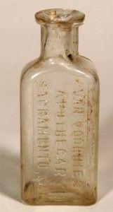 Van Voorhies Apothecary Sacramento CA Medicine Bottle