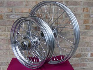 40 Spoke Chrome Wheels Parts for Harley Dyna Softail Std