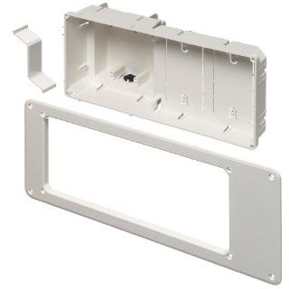 Arlington TVB613 1 Recessed TV Outlet Box with Paintable Trim Plate