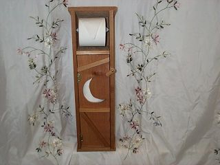 Handmade Cedar Wood Outhouse Toilet Tissue Paper Holder