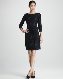 RED Valentino Ruffle Sleeve Lace Dress