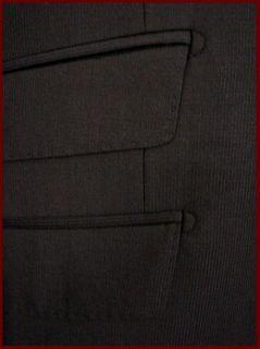 TIGLIO Italian Brunello Black Mini Stripe Suit 42S 2BT Slim Fit Retail