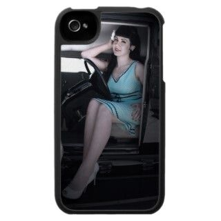 Classy Hot Rod Pin Up Girl Bettie iPhone 4 Case