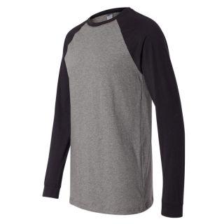 Canvas Mens Long Sleeve Baseball T Shirt Raglan Jersey Tee Team 3000 s